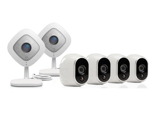 Arlo HD Security System w/4 Wire-Free Cameras & 2 Q Cameras
