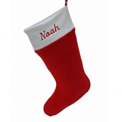 Personalised Christmas Stocking in Red