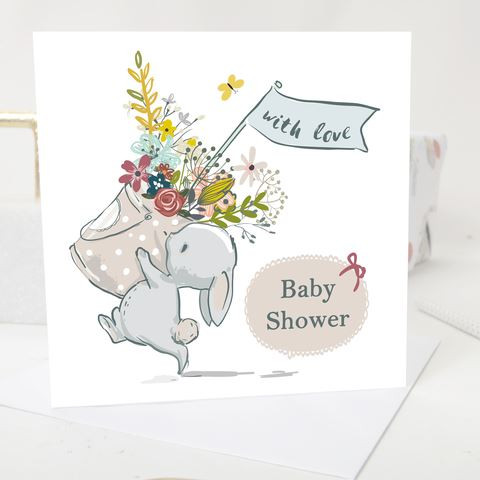 Baby shower greeting card vintage bunny baby xmas cards babymoi baby shower greeting card vintage bunny m4hsunfo