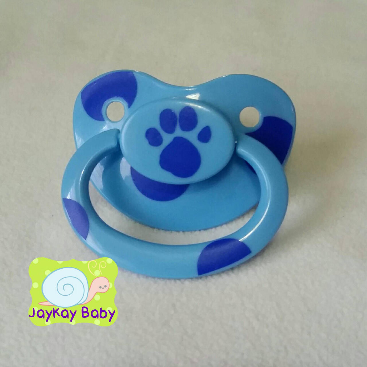 Blue's Clues Paw Print Themed Adult Pacifier - Jaykaybaby