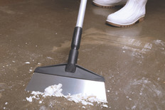 "Stainless Steel Floor Scraper with 60"" Ergo Handle"