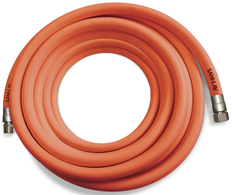 SANI-LAV H503 50 Ft. Safety Orange Premium Wash-Down Hose with Stainless Steel Fittings
