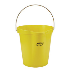 Vikan 3 Gallon Bucket/Pail in Yellow