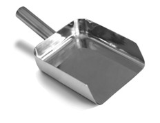 Stainless Steel 316 Pharma Scoop - 50 oz. Square Bottom