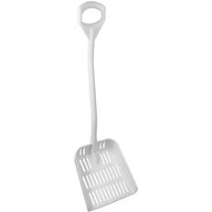 Large Ergonomic Sieve Shovel in White