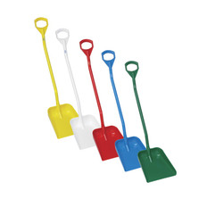 "Wide Ergonomic Shovel w/ Large Blade and 51"" Handle in Multiple Colors"