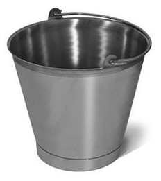 Bucket - 16 Quart Stainless Steel Pail