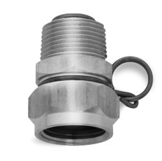 "Stainless Steel Swivel Hose Adapter 3/4"" GHT"