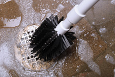 "3"" Drain Brush with 24"" Handle Closeup"