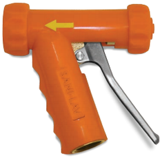 SANI-LAV N1SS Stainless Steel Industrial Mid-Size Spray Nozzle Orange