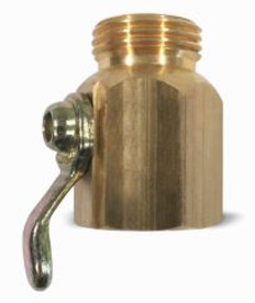 "Brass On/Off Hose Control Valve 3/4"" GHT"