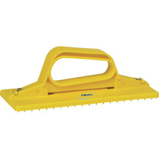 Handheld Cleaning Pad Holder in Yellow (Side View)