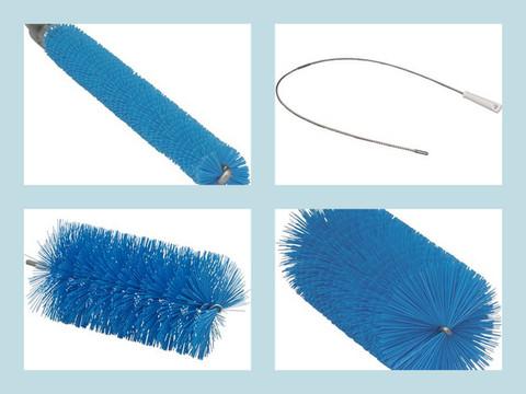 Brush - 9-Pcs Kit - 10ft Stainless Flex Hdl with 5 Multi-Size Brushes