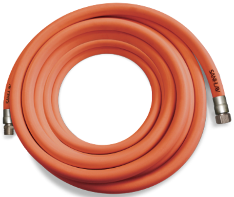 75 Ft. White Premium Wash-Down Hose with Stainless Steel Fittings