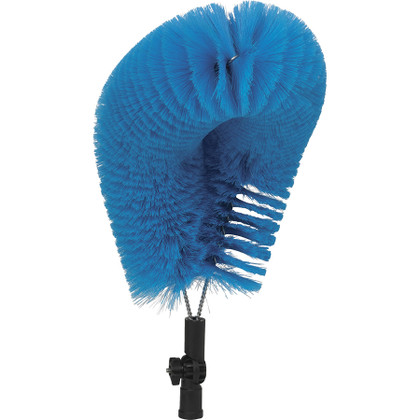 Closeup of Soft Bristle Overhead Pipe Cleaning Brush (Front)