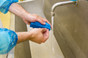 Washing Hands with Small Hand and Nail Brush Stiff Bristles