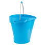Vikan 5 Gallon Bucket/Pail in Blue (Side View)