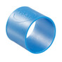 "1"" Color-Coded Silicon Bands (5 Pack) in Blue"