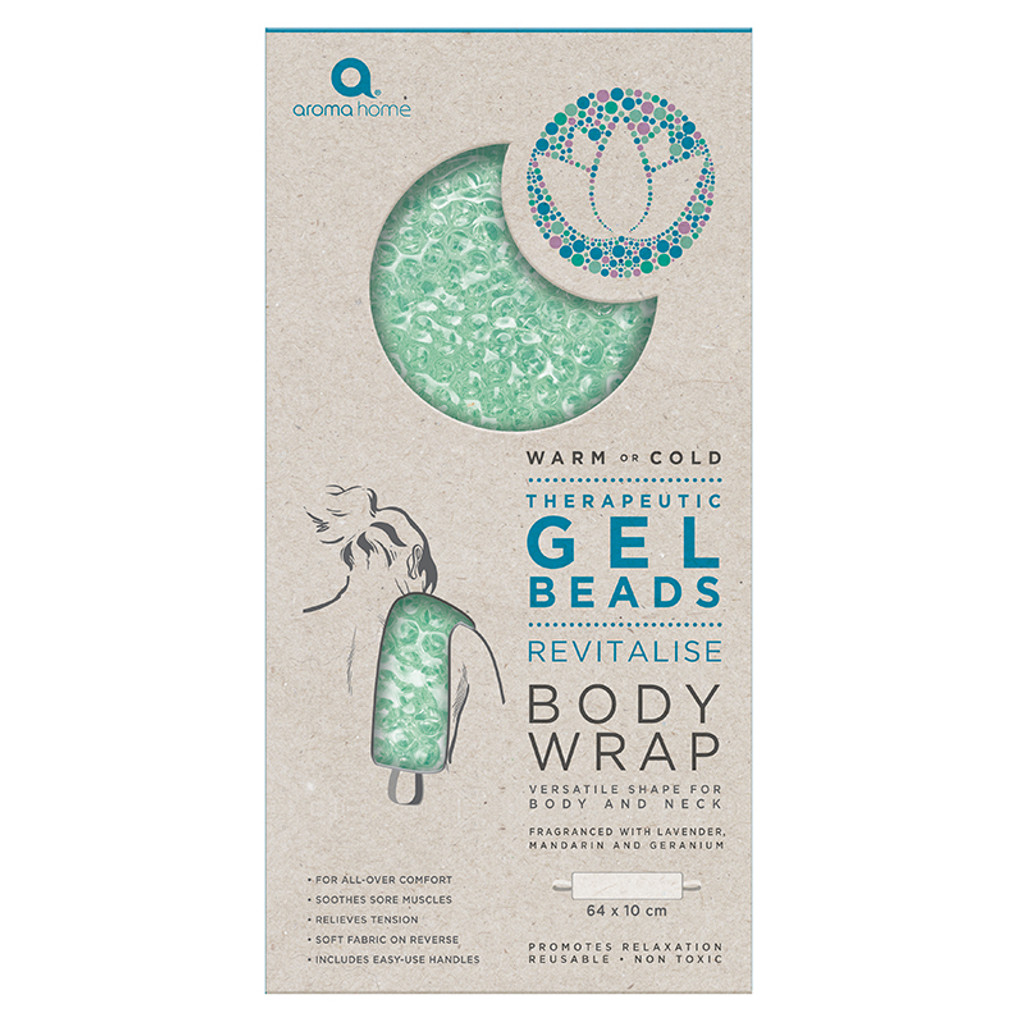 Aroma Home Therapeutic Gel Beads Long Body Wrap Sea Foam Packaging