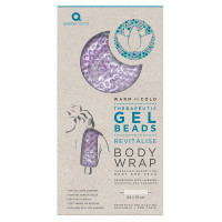 Aroma Home Therapeutic Gel Beads Long Body Wrap Lavender Packaging