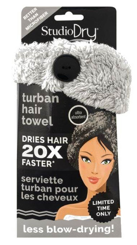 Danielle Creations Glam Goddess Hair Turban Towel Grey Box