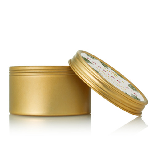 Mountain fresh and glowing, this perfectly-sized gold travel tin candle allows you to bring the crisp scent of Siberian Fir needles, heartening cedarwood and relaxing sandalwood with you anywhere you go to fill smaller spaces.