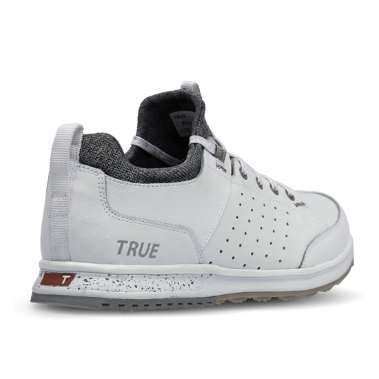 White TRUE Outsider full shoe heel primary