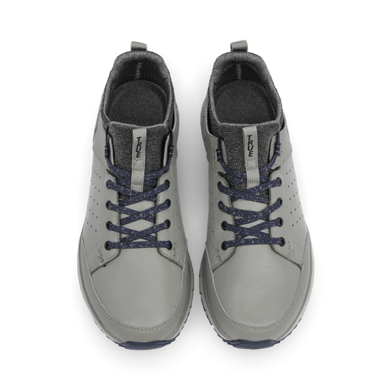 Grey Navy TRUE Outsider full shoe dual pair top down