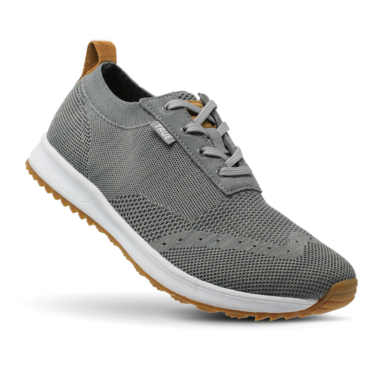 Stone grey TRUE Knit full shoe toe flex