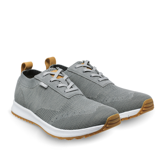 Stone grey TRUE Knit dual full shoe pair side view