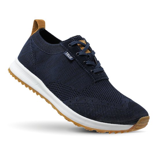 Deep blue TRUE Knit full shoe toe flex
