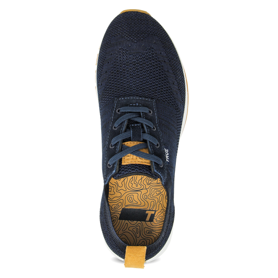 Deep blue TRUE Knit full shoe top insert view