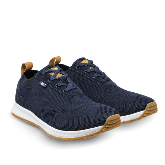Deep blue TRUE Knit dual full shoe pair side view