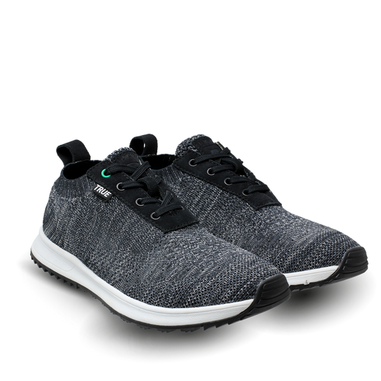 Black and grey TRUE Knit x Linksoul full shoes dual view