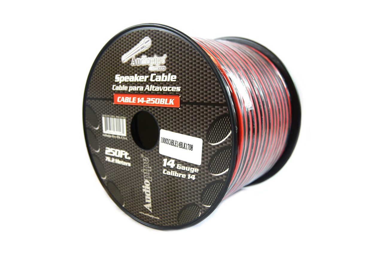 14 Gauge 250 Feet Speaker Wire Red Black 2 Conductor Copper Clad 12 ...