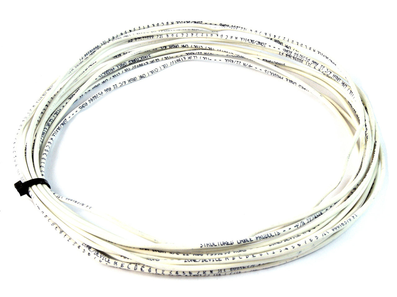 Alarm Wire 22 Gauge 100\' 2 Conductor Stranded Copper Cable White UL ...
