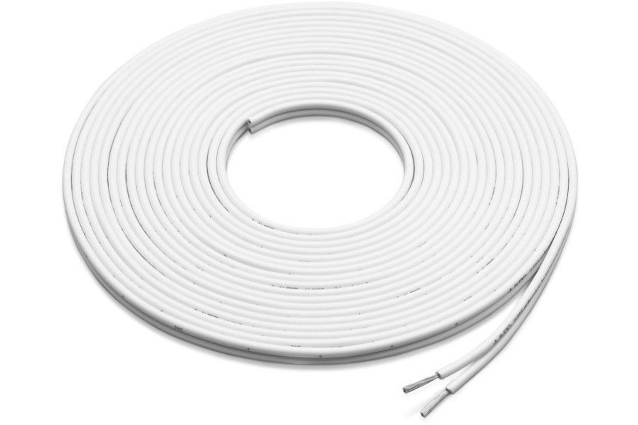 Speaker Wire 100 Feet 12 Gauge White Marine 2 Conductor