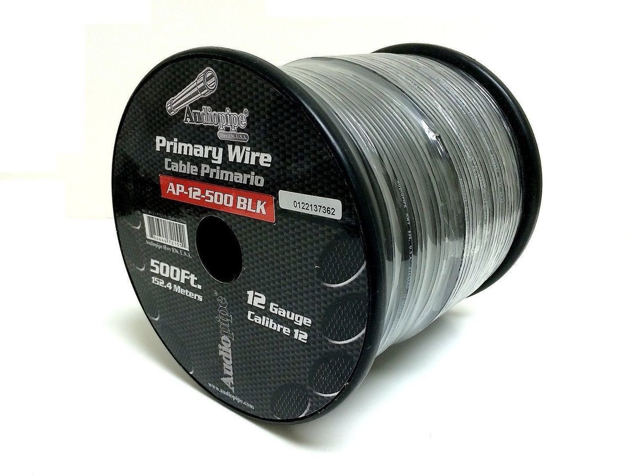 12 GA gauge 500\' Black Audiopipe Car Audio Home Primary REMOTE Wire ...