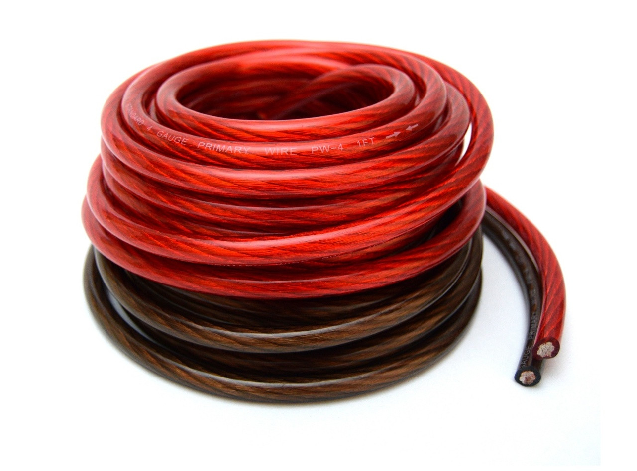 4 ga 25 black and 25 red car audio power ground 6 12 24 32 36 80 rh bestconnectionsinc com Audio Plug Wiring Audio Cable Ends