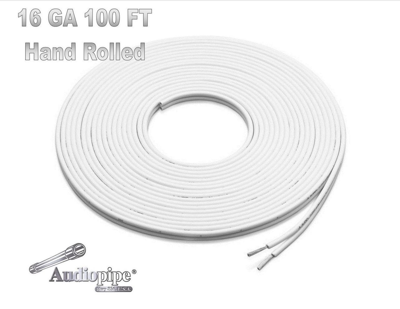 100 FT 16 GAUGE WHITE MARINE SPEAKER WIRE STRANDED TIN COPPER PLATED ...