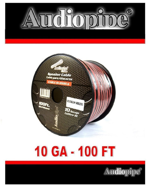 100 ft 10 gauge Red Black Cable 2 Conductor Speaker Wire Car Home ...