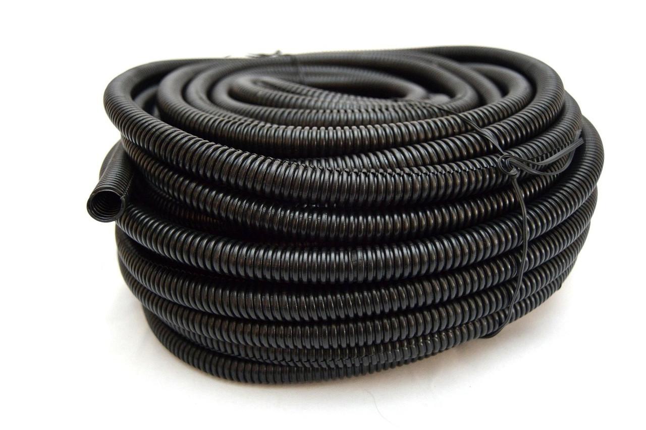 "100 Feet FT 1//2/"" Black Split Loom Wire Flexible Tubing Conduit Hose Car Audio"