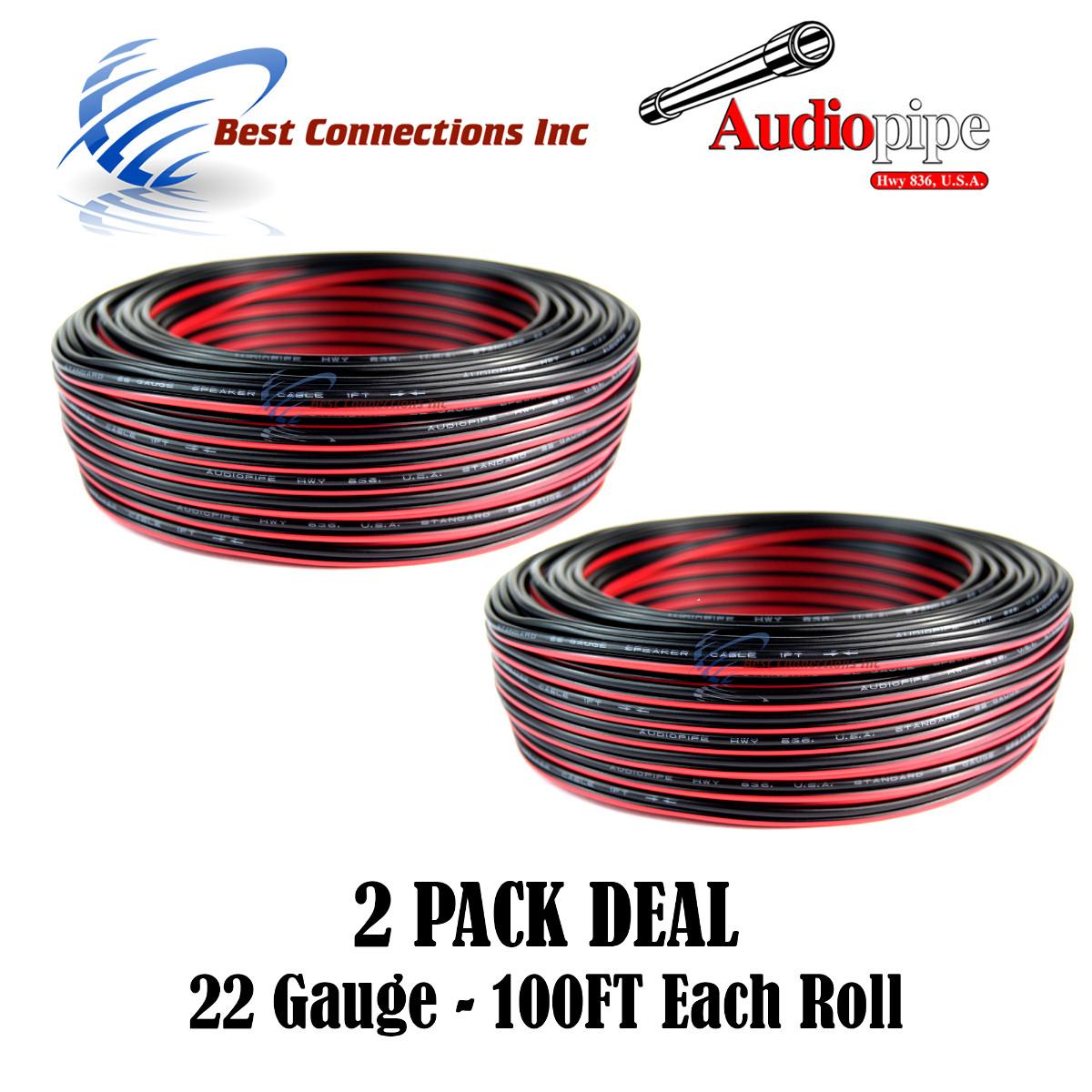 22 Gauge 100\' Red Black Stranded Wire Power Ground Model Trains LED ...