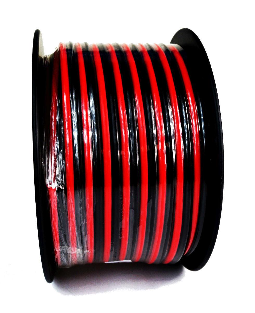 8 Gauge 100 Feet Red Black 2 Conductor Speaker Wire Audio