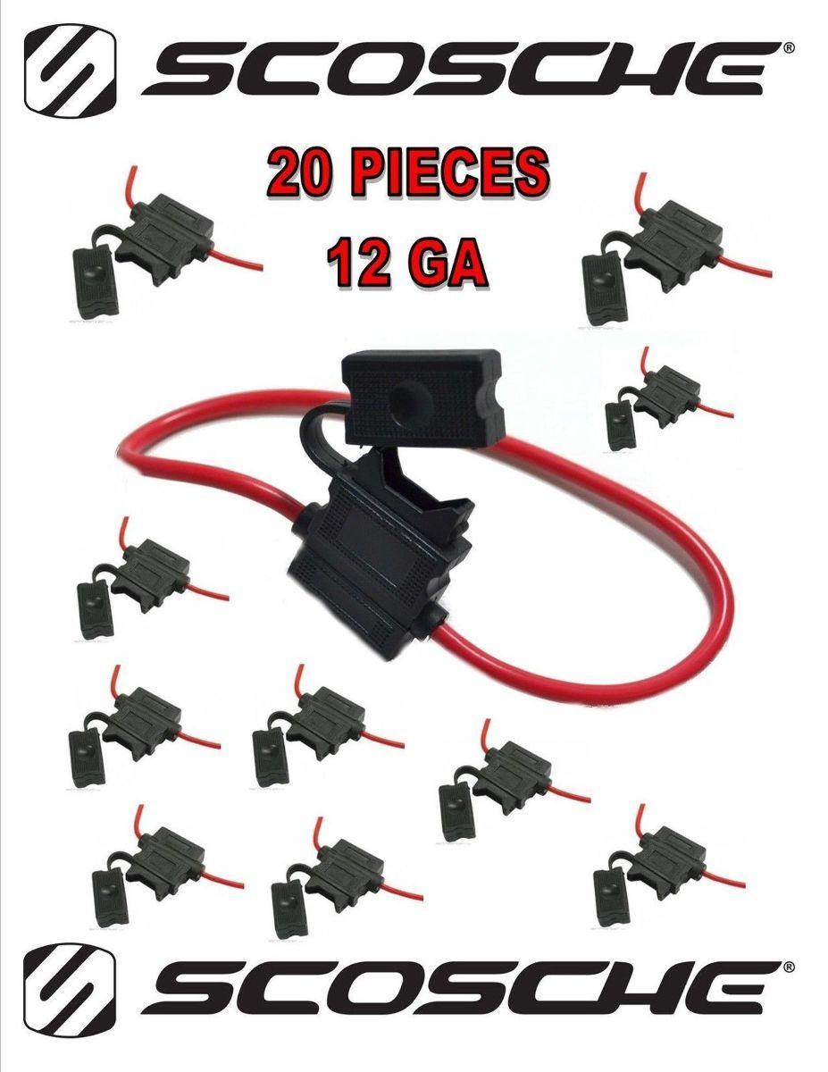 20 Pack Scosche 12 Ga Atc Heavy Duty Fuse Holder Volt Automotive Cost Of Car Box Copper Wire