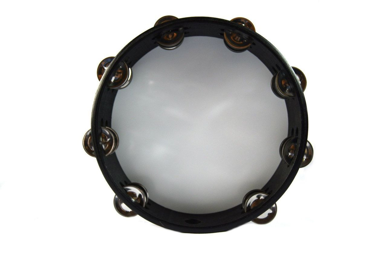 New 10 Quot Reflective Tambourine Double Row Jingle Percussion