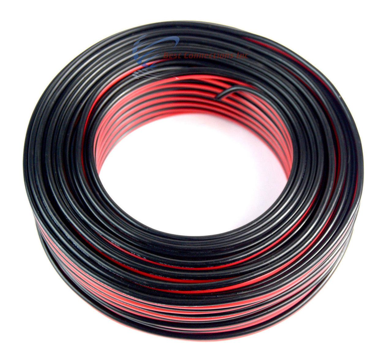 100 U0026 39  Feet 16 Gauge Zip Speaker Wire Red Black Stranded