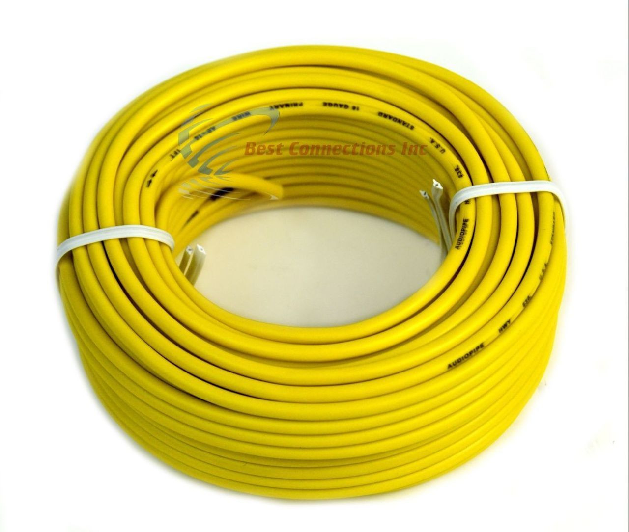 16 Gauge 50\' Ft Yellow Audiopipe Car Audio Home Remote Primary Cable ...