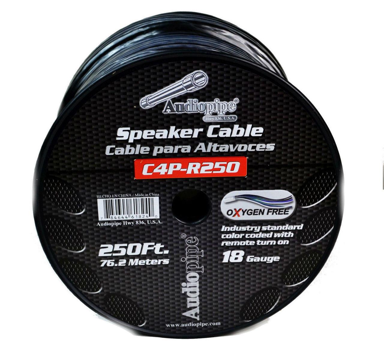 9 Conductor 18 Gauge 250 Feet Speed Cable Alarm Speaker