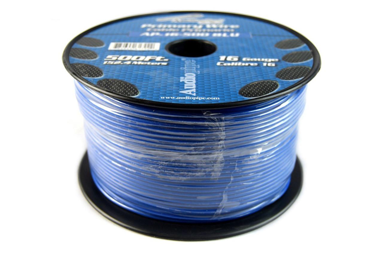 16 GA 500\' Blue Audiopipe Car Audio Home Remote Primary Cable Wire ...